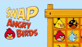 angry birds swap matching